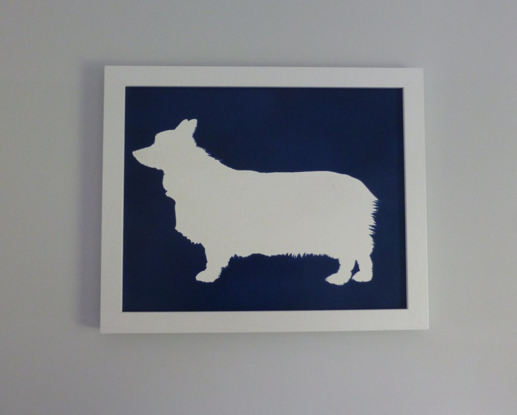 Dog silhouette wall art (aka Dany art)