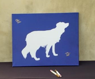 Do it yourself pet silhouette guest book