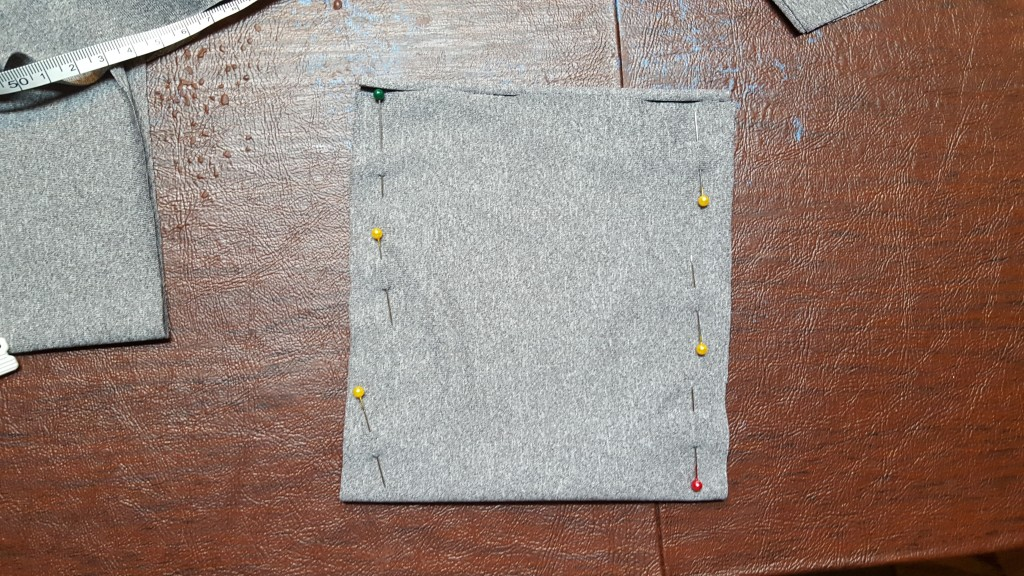 Sew sides of pocket.