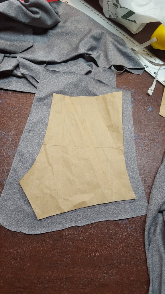 Add one inch seam allowance to pattern pieces