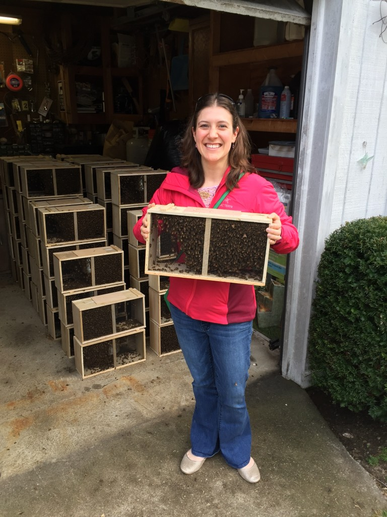 Me with my new package of bees.