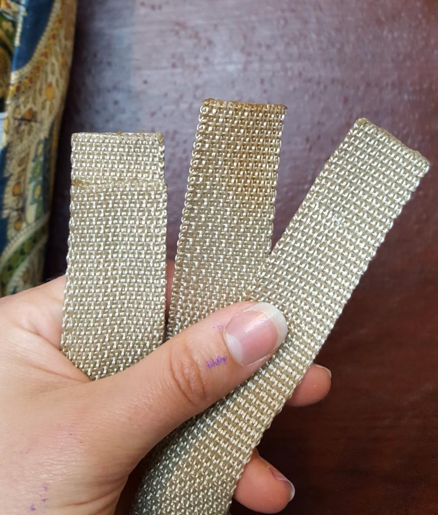 Burn edges to prevent fraying