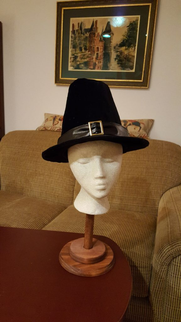 Finished Pilgrim hat
