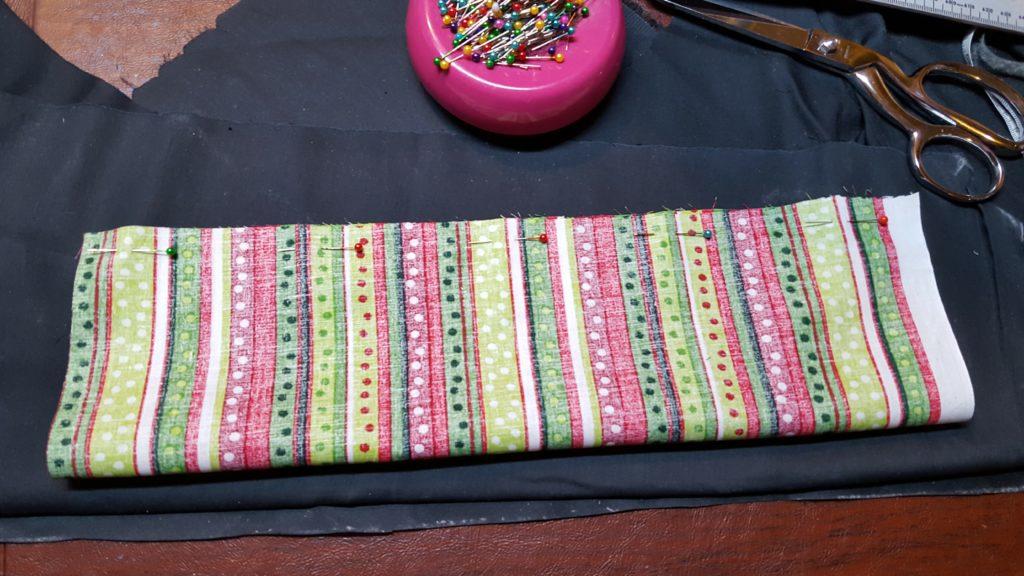 Fold Bow in half, stitch long end.