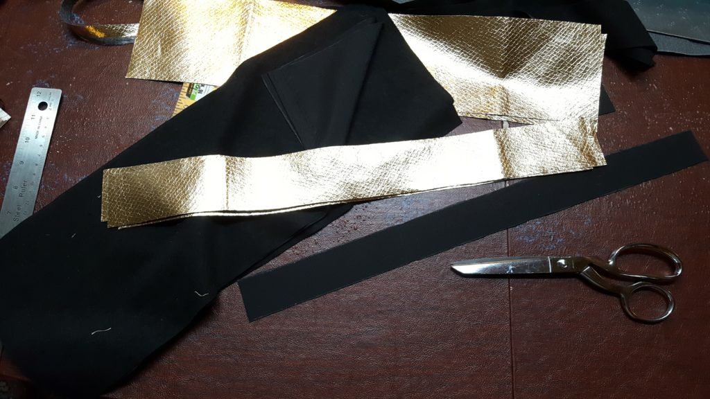 Cut fabric into rectangles.