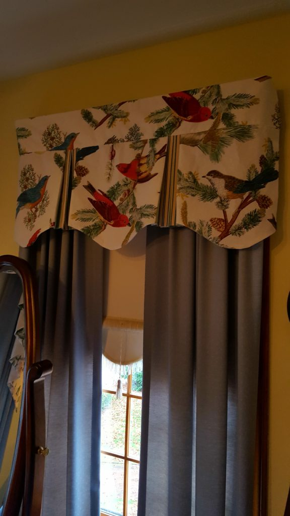 Finished scalloped valances