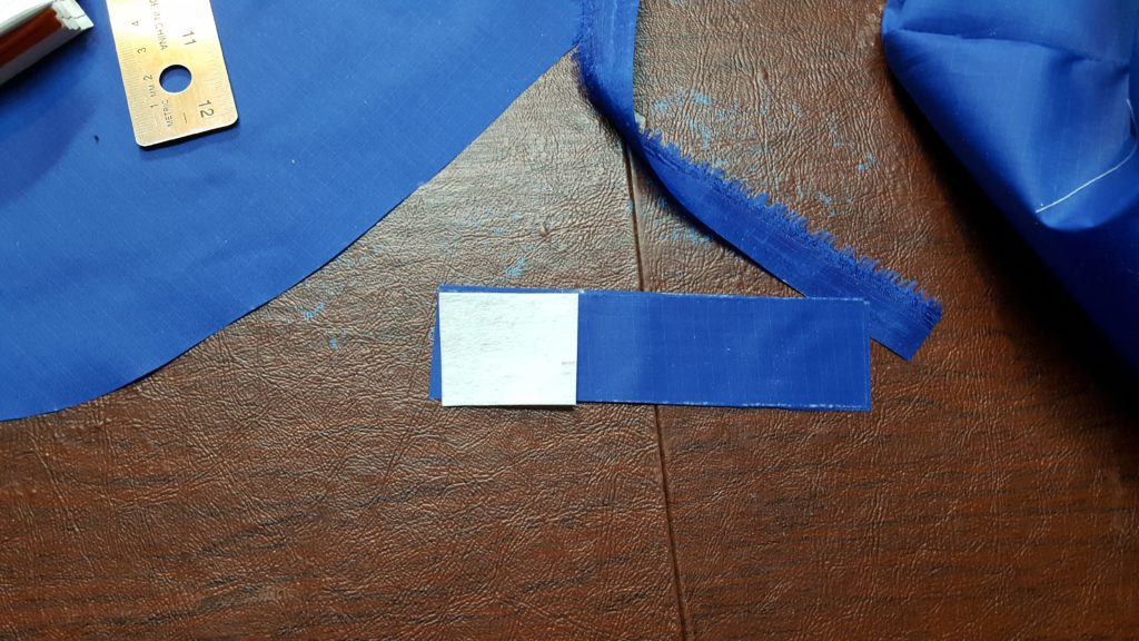 Attach interfacing to strip for snaps.