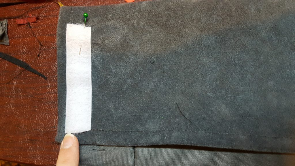 Attach other side of velcro to opposite side, outside carrier.