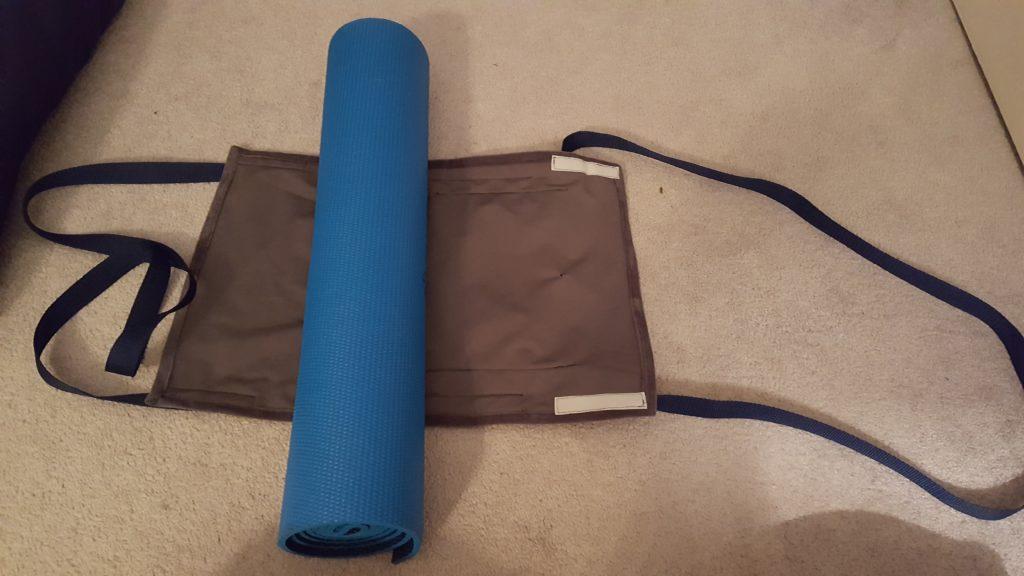 Wrap your yoga mat.